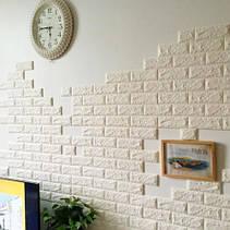 Декоративная 3D панель самоклейка под кирпич Коричневый 700x770x7мм, фото 3