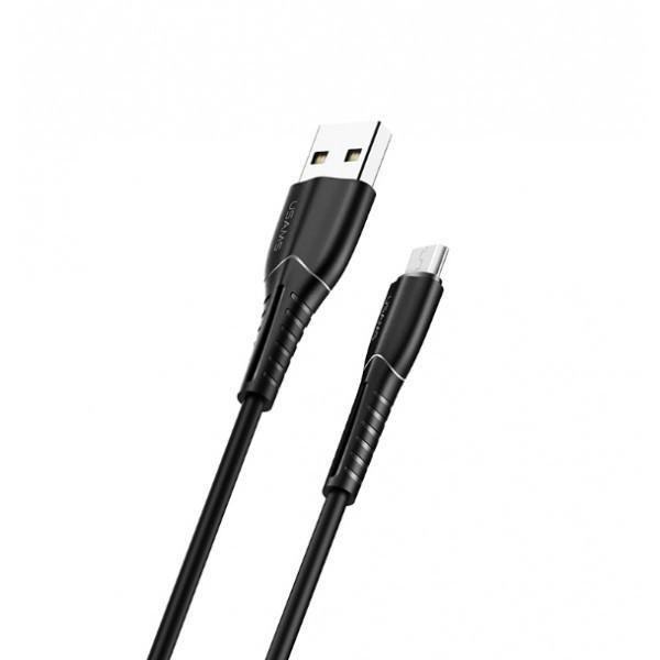Кабель USB - microUSB (1m) 2A 2in1 шнур для зарядки смартфона і провід передачі даних телефону USAMS U35 Micro (US-SJ365) Black