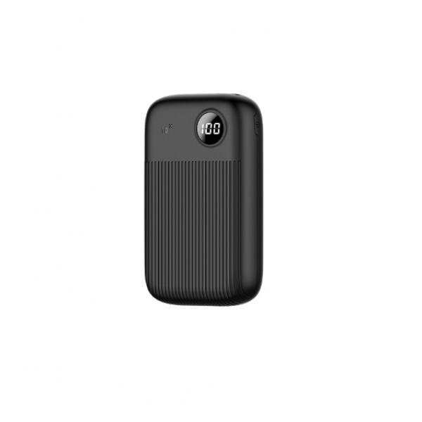 Зовнішній акумулятор 10000 mAh повербанк з LED дисплеєм для телефону універсальна портативна батарея Usams PB29 Dual USB Digital Display (US-CD91)