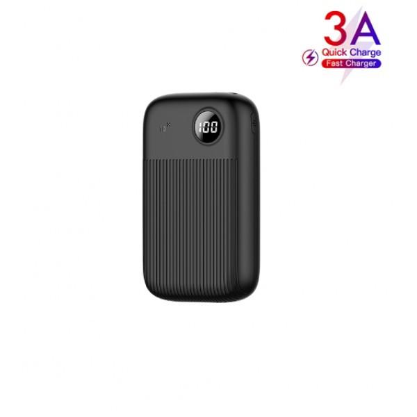 Зовнішній акумулятор 10000 mAh повербанк (QC3.0) з LED дисплеєм для телефону універсальна портативна батарея Usams PB35 Digital Display (US-CD98)