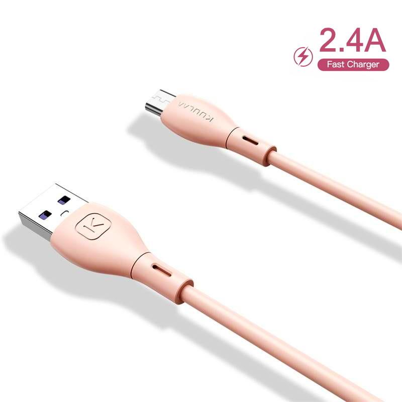 Кабель USB - microUSB 2in1 (1 м) 2.4 A Fast Charge провід швидкої зарядки і передачі даних телефону смартфона