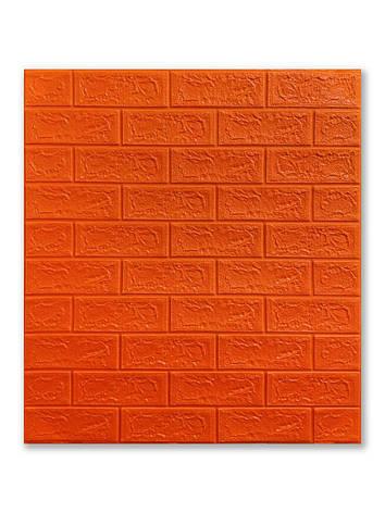 Самоклеющаяся декоративная 3D панель Кирпич красный 700x770x5мм, фото 2