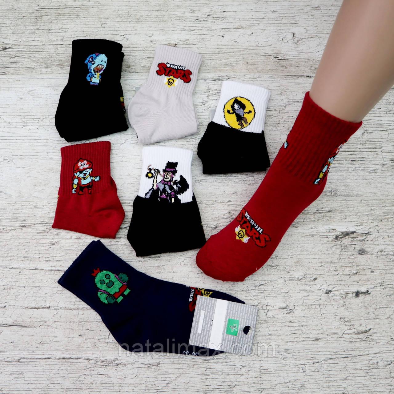 "Детские носочки ""Brawl Stars"", размер 30-35. Носки для мальчика, Турция"