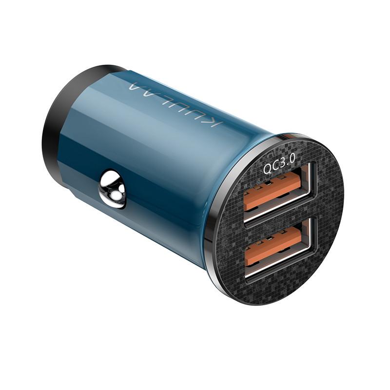 Автомобільний зарядний пристрій 48W 2xUSB швидка зарядка для телефону в прикурювач машини KUULAA Dual