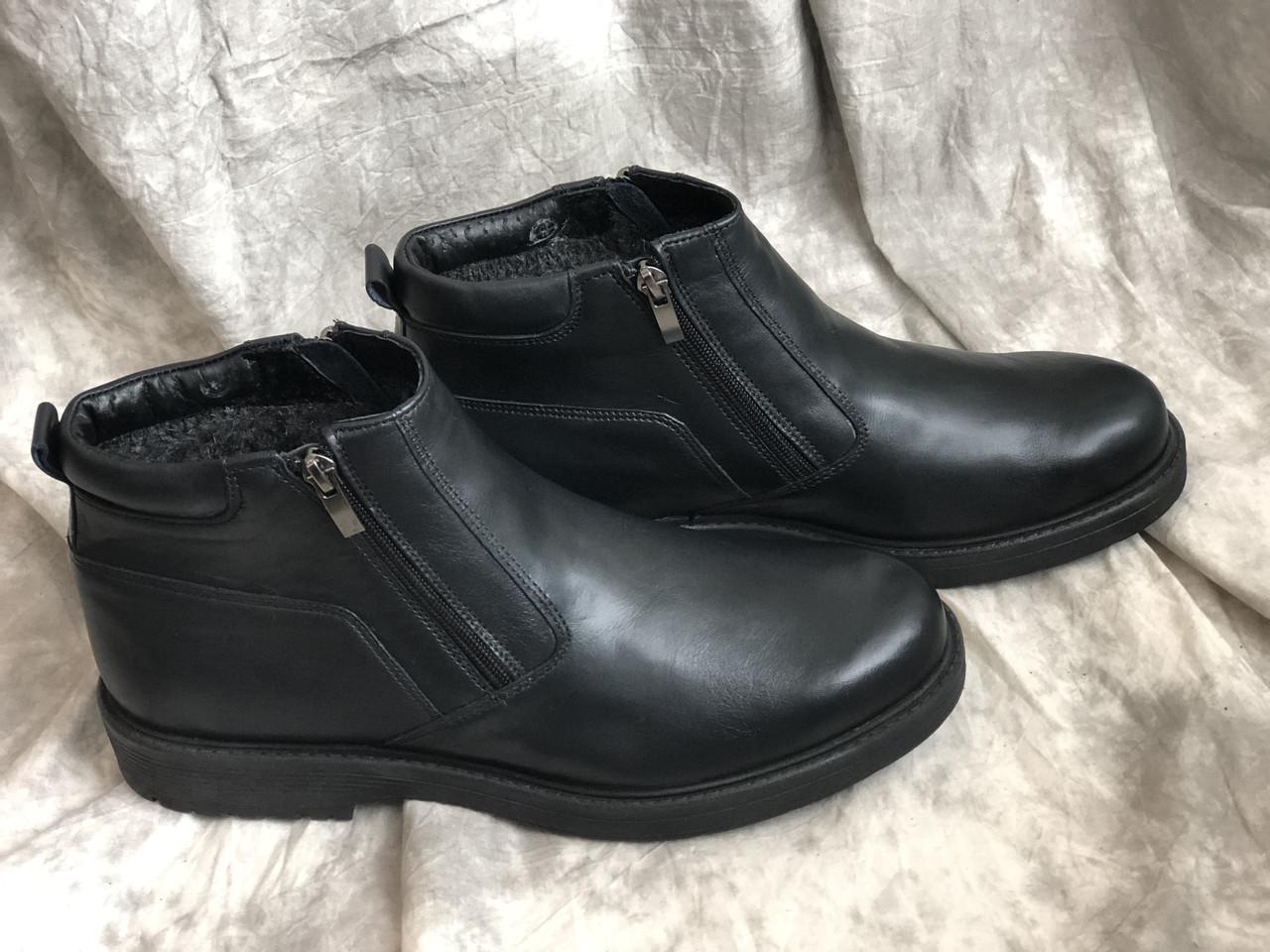 Зимние ботинки мужские с натуральной кожи 14185 размеры 40,44,45