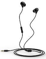 Вакуумные проводные стерео наушники с влагозащитой IPx5 для спорта с гарнитурой микрофоном Usams Ewave Series