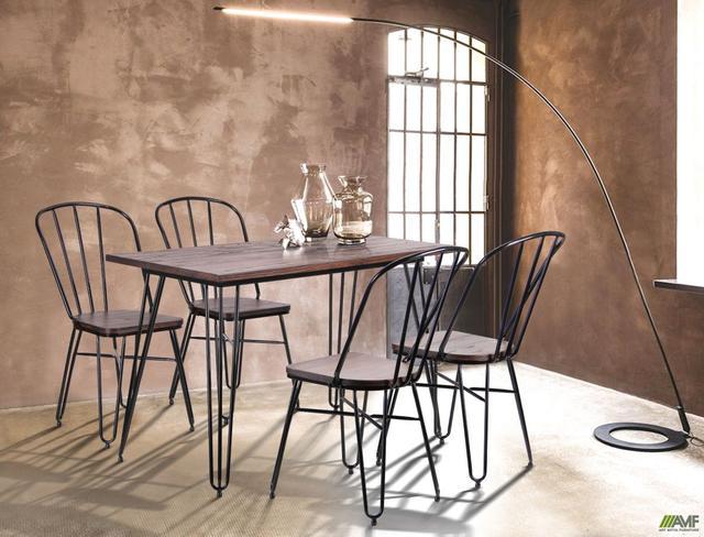 Заказать обеденный металлический стул Clapton черный для кафе