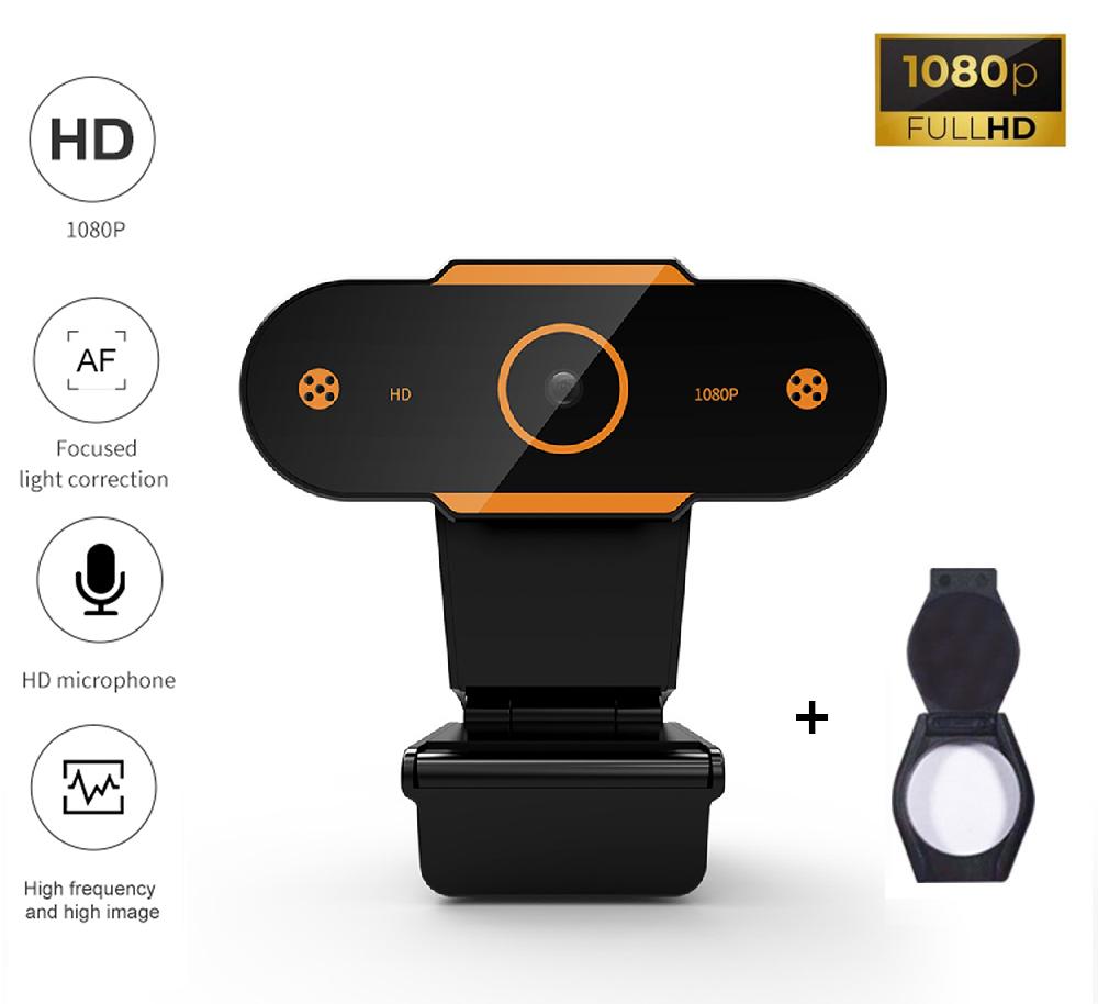 Веб-камера Full HD 1080p (1920x1080) с встроенным микрофоном с шумоподавлением вебкамера для ПК компьютера UTM