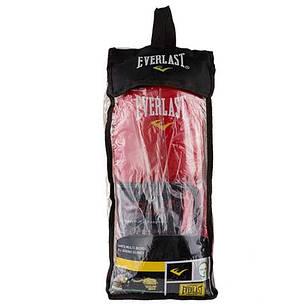 Боксерские перчатки кожаные красные 8oz Everlast 3Strap, фото 2
