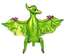 Шар-ходячка Птеродактиль зеленый 80х66см