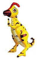 Шар-ходячка Паразауролоф жёлтый 66х60см