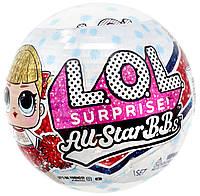 Кукла лол сюрприз Черлидеры красная команда MGA LOL Surprise All-Star B.B.s Sports Series 2 Cheer Team