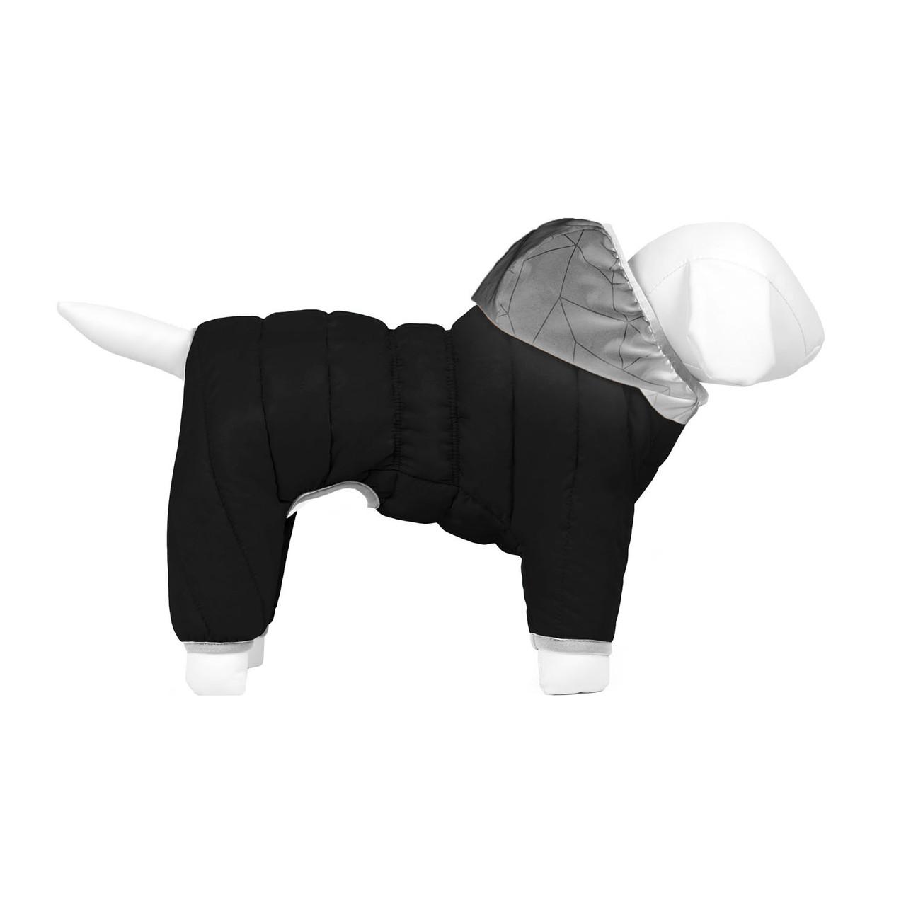 Комбінезон Airy Vest One L55 утеплений чорний Collar для собак