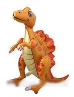 Шар-ходячка Спинозавр жёлтый 60х72 см