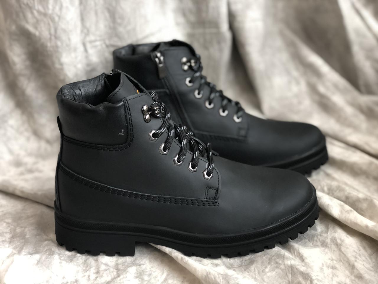 Зимние ботинки мужские Mida натуральная кожа 14827 ч/к размеры 40-45