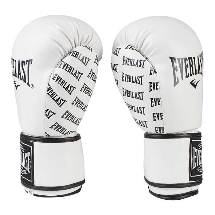 Боксерские перчатки белые 10 oz Everlast DX-2218