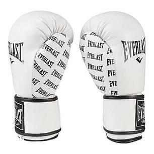 Боксерские перчатки белые 10 oz Everlast DX-2218, фото 2