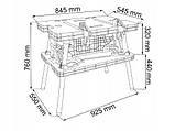Портативный рабочий стол с принадлежностями 180 kg MACALLISTER, фото 5