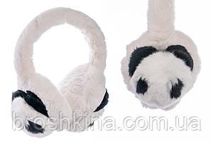 Хутряні навушники теплі Панда 1 шт/уп.