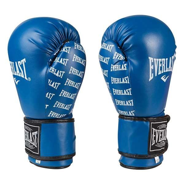 Боксерские перчатки синие 8oz Everlast DX-2218