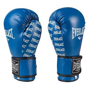 Боксерские перчатки синие 8oz Everlast DX-2218, фото 2
