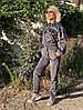 Жіночий стильний вельветовий костюм з укороченим верхом