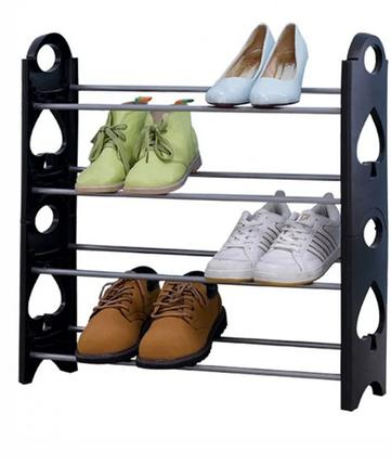 Полиця для взуття органайзер Amazing Stackable Shoe Rack, 4 полки, на 12 пар, фото 2