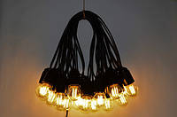 Уличная Гирлянда Retro Lampa 20м на 41 лампочек Филаментные с влагозащитой IP44 (bus20F) (IB32bus20F)