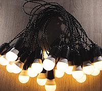 Уличная Гирлянда Retro Lampa 5м на 11 лампочек LED с влагозащитой IP44 (bus5L) (IB32bus5L)
