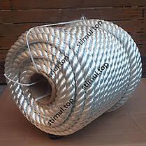 Канат полиамидный Ø 6 мм (моток 50 метров) / Крученая веревка / Мотузка поліамідна кручена, фото 2