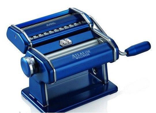 Машинка для раскатки теста + лапшерезка Marcato Atlas 150 Blu, фото 2