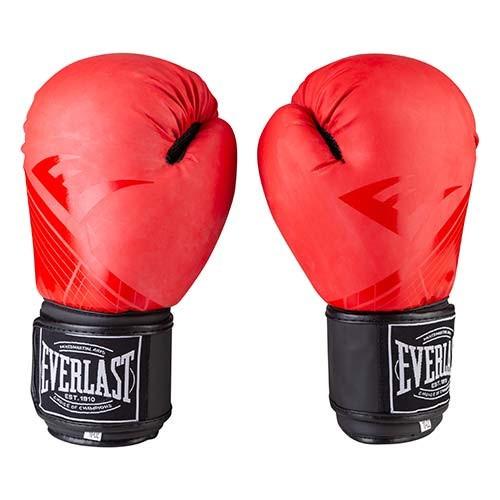 Боксерские перчатки матовые красные 10oz Everlast DX-3597