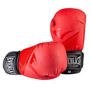 Боксерские перчатки матовые красные 10oz Everlast DX-3597, фото 2