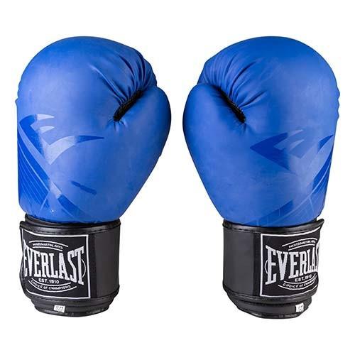 Боксерские перчатки матовые синие 10oz Everlast DX-3597