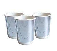 "Набор стаканчиков 185 мл.  Хром, серебро ""Silver"" 5 шт./уп"