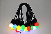 Уличная Гирлянда Retro Lampa 30м на 61 лампочек LED Цветные с влагозащитой IP44 (bus30S) (IB32bus30S)