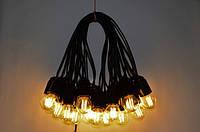 Уличная Гирлянда Retro Lampa 25м на 51 лампочек Филаментные с влагозащитой IP44 (bus25F) (IB32bus25F)