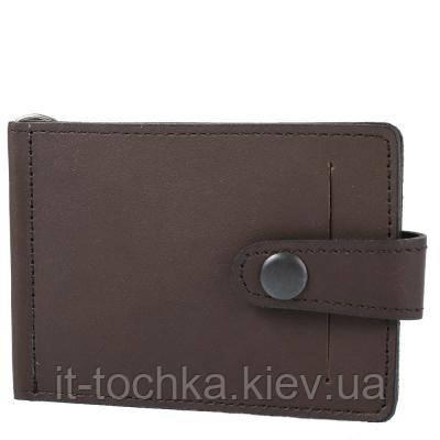 Зажим для купюр мужской кожаный dnk leather  (ДНК ЛЕЗЕР) dnk-euro-clamp-col-f