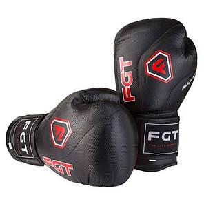 Боксерські рукавички чорні 12oz FGT, Cristal 2815, фото 2