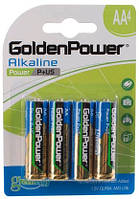 Батарейка GOLDEN POWER Power Plus AA BLI 4 Alkaline