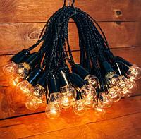 Ретро гирлянда для праздников Retro Lampa 20 м 40 лампочек желтый теплый свет (07/LITW002) (IB32LITW002)