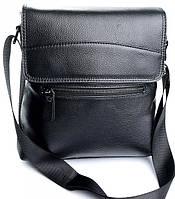 Мужская кожаная сумка  WY-8135  Black. Мужские сумки оптом и в розницу недорого в Украине., фото 1