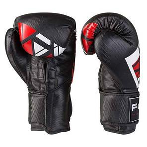 Боксерские перчатки черно-красные 10oz FGT, Cristal 2518, фото 2