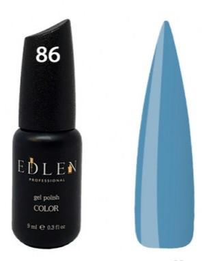 Гель-лак EdLen №86 (васильковый, эмаль), 9 мл