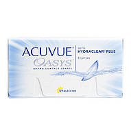 Контактные линзы Johnson&Johnson ACUVUE OASYS with HYDRACLEAR Plus (Акувью Оазис) 6шт.