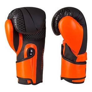 Боксерские перчатки черно-оранжевые 10oz FGT, Flex  2588, фото 2