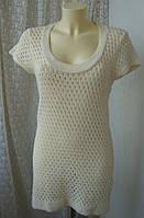 Платье женское вязаное хлопок акрил бренд Topshop р.48 4060а
