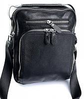 Мужская кожаная сумка 8027  Black. Мужские сумки оптом и в розницу недорого в Украине., фото 1