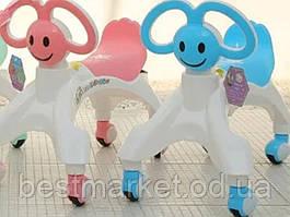 Ходунки Детские Велосипед Baby Walker Розовый и Синий