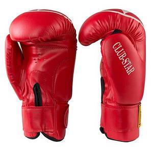 Боксерские перчатки красные 12oz BWS ClubStar, PU, 3077, фото 2